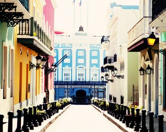 Historical Buildings of Old San Juan - Fine Art Photography, Old San Juan, Puerto Rico, historical, colorful, landscape, city, photo, print