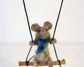 Needle felted mouse soft sculpture