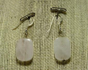 clouded quartz earrings