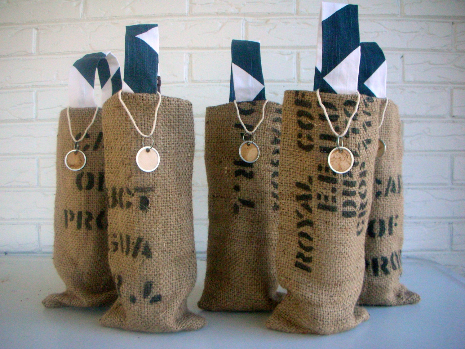 Wedding Gifts Wine: Burlap Wine Bag Wedding Favors Bridal Shower By