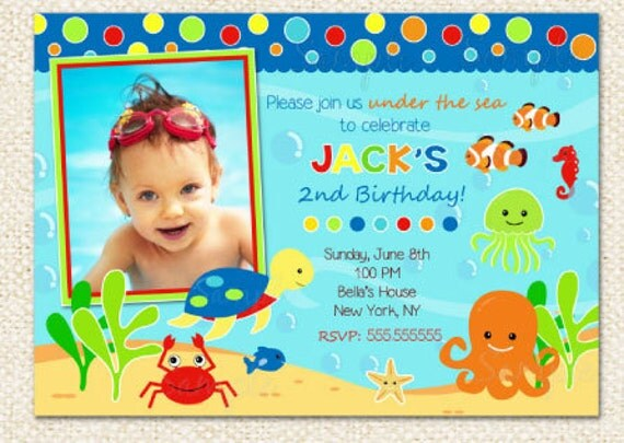 under the sea birthday invitations, Birthday invitations