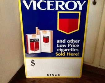 Viceroy Cigarettes Vintage Tobacco Advertising Store/Gas Station Sign