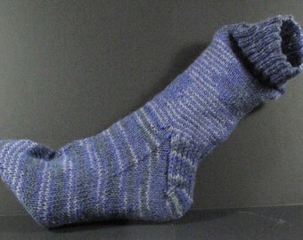 Socks - Hand Knit Great Colors-Striped Socks Wool+Mixed Fibers - The Best Socks for a Man or Woman