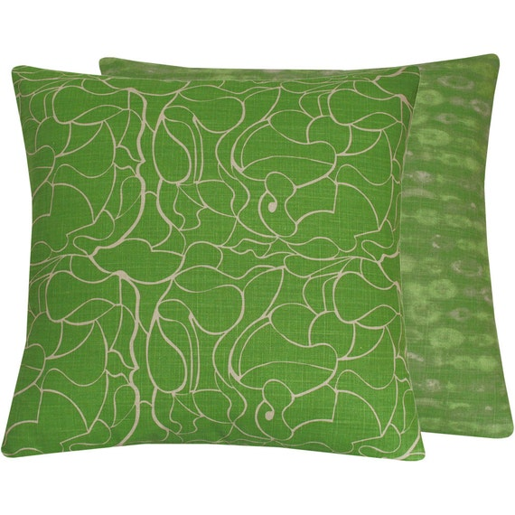 Green Throw Pillow Cover 20x20 Lime Green by ChloeandOliveDotCom