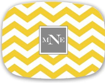 Personalized Plate, Wedding / Bridal Shower Gift, Personalized Platter, Monogrammed Microwave safe Plate, Monogram Plate, Custom Dinnerware