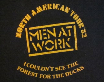 Original MEN at WORK vintage 1982 promo tour T SHIRT