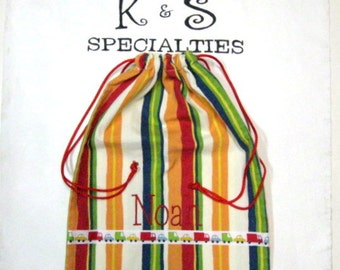 Personalized Monogrammed Bag for Children's Treasures-A Great Gift Idea