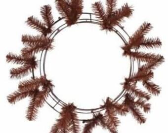 "24"" Deco Mesh Work Wreath -- BROWN"