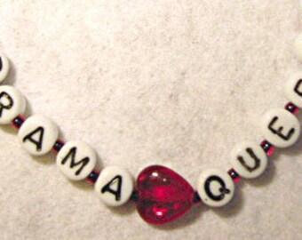 Gifts for Girls, Letter bracelet, Drama Queen, Beaded Bracelets for Children,Alphabet letters, jewelry bracelet, heart, birthday gift