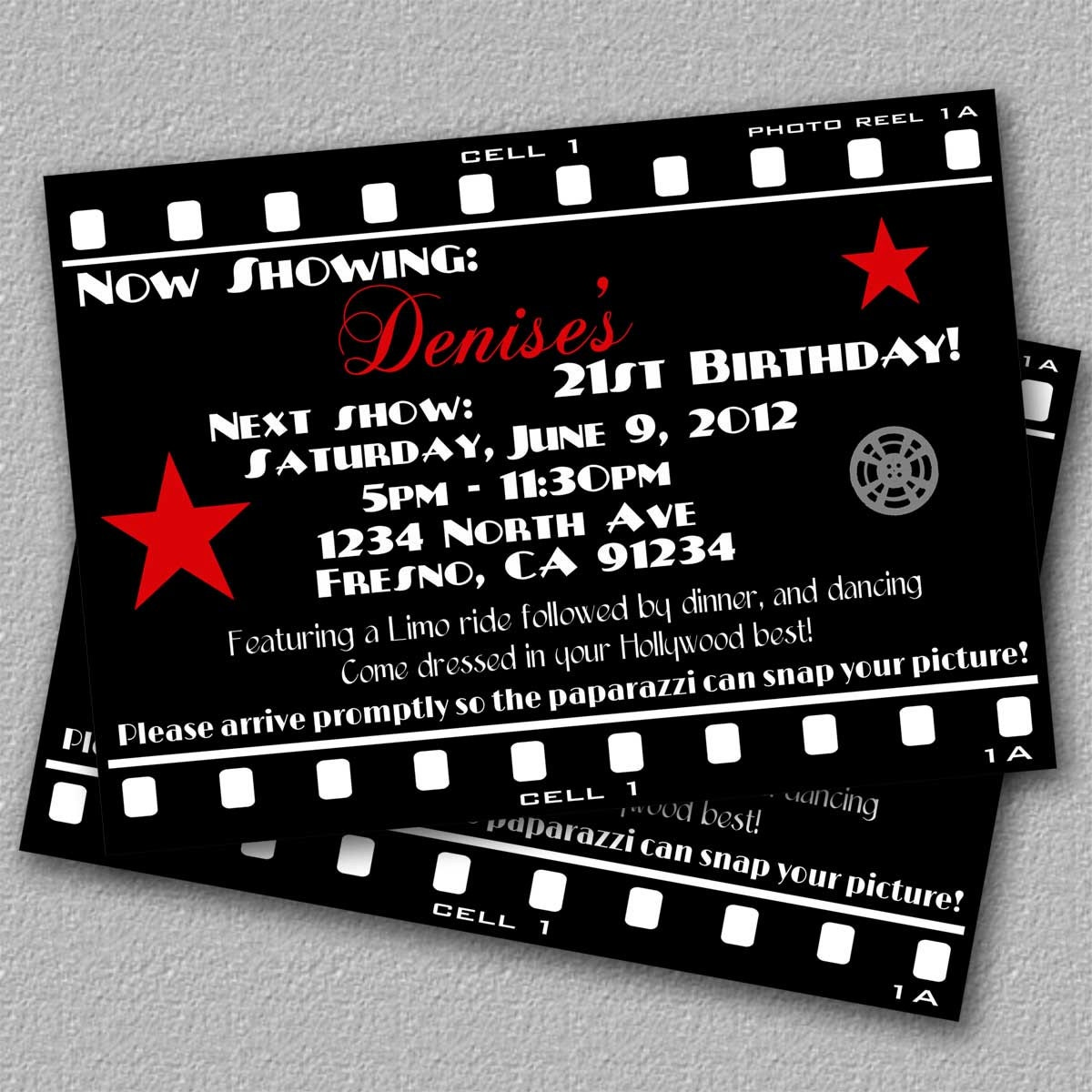 Hollywood Party Invitations could be nice ideas for your invitation template