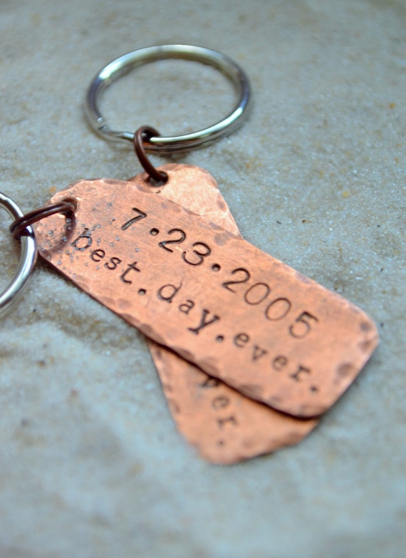 Wedding Anniversary Gifts For Husband Online Shopping : Anniversary Keychains - Husband gift- husband and wife gift- wedding ...