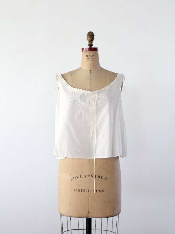 Edwardian shift top, 1900s camisole