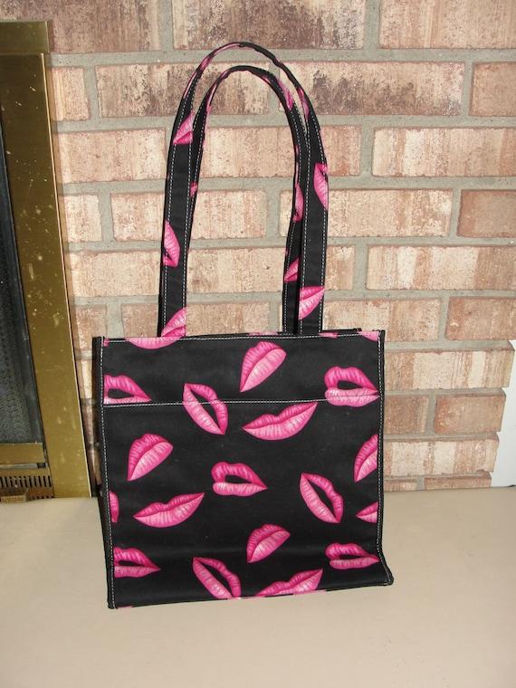 Vintage 80s Lipstick Tote Bag Purse Handbag Mary Kay Avon