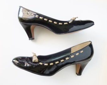 1960's Real Patent Leather MOD Pumps by Magdesians of California