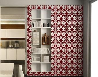 Allover Stencil for Walls - Fleur de Lis Pattern - Large, Reusable stencil for DIY home decor