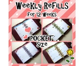 SIZE: POCKET Week On Two Pages Diary Undated Refills Inserts Filofax Collins