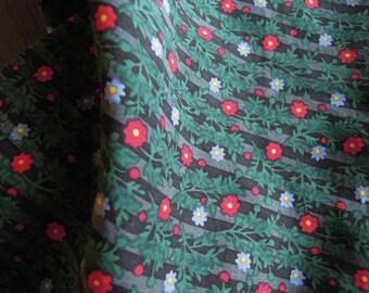 Vtg Silk Floral Square handkerchief