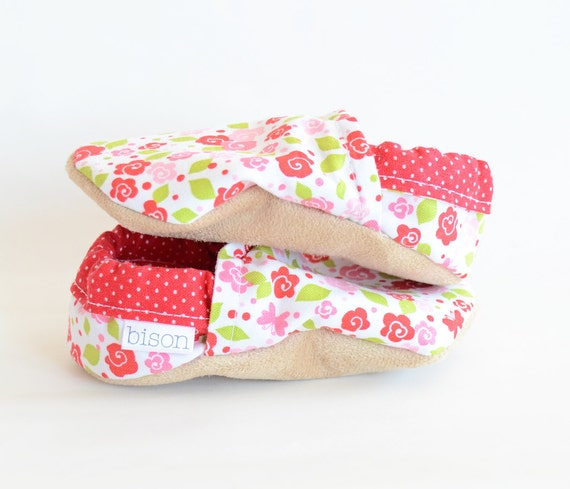 May Day Bison Booties baby Size 6 to 12 Months Ready to Ship floral summer girly shoes bootys