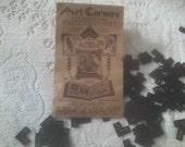 Vintage 1940s Black Photo or Art Mounting Corners and Envelope. Paper Ephemera
