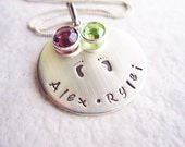 Personalized Jewelry - Family Necklace - Mothers necklace - Handstamped jewelry