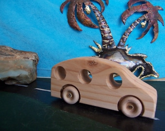 Toy Car Station Wagon Ready to Roll into Some Child's Play Room Handmade from Reclaimed Wood