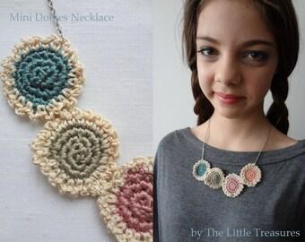 The Mini Doilies Necklace - Mini Crochet Collection, mini crocheted necklace, bohemian necklace, tiny crocheted doiliess