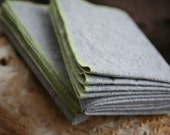 4 Organic Napkins in Charcoal - Recycled Organic Cotton and Hemp Eco Cloth // Choice of Single Accent Color