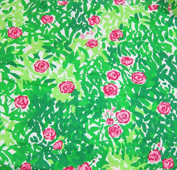 New Lilly Pulitzer Fabric Pink Amp Green Multi Dashing