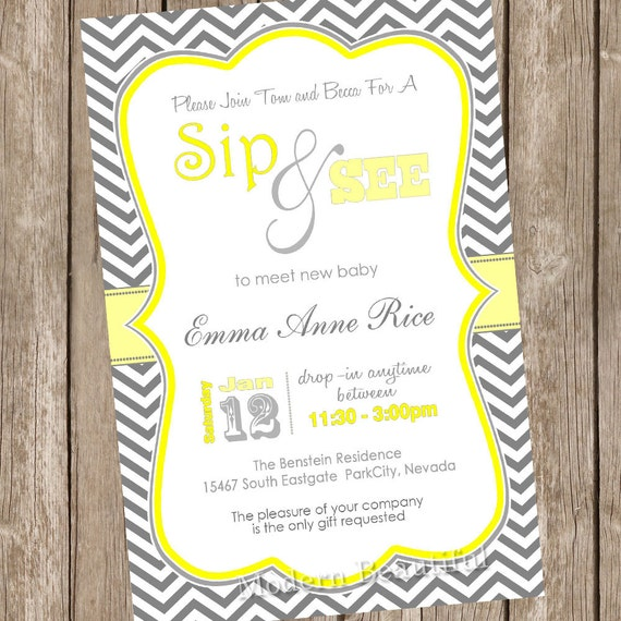 Sip And Shop Invitation with adorable invitation example