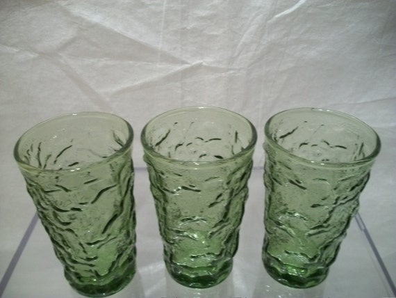 Anchor Hocking Glassware Forest Green Anchor Hocking Green