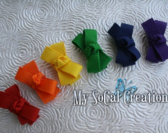 Over The Rainbow Itty Bitty Baby Snap Clip Set / Gift Set / Infant Toddler Fine Hair /no slip clips