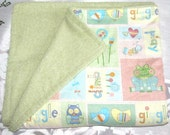 ON RESERVE FOR Dm - Baby Cotton Backed, Terry Cloth Bath Towel w/ wash cloths