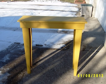 sofa table console entryway recycled material custom made