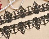 Exquisite Black Venice lace Trim Aulic Palace Lace Necklace Supplies 1.96 Inches Wide 2 Yards
