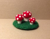 Little Felted Mushroom Patch