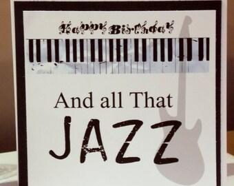 All That Jazz Music  Keys Happy Birthday Card