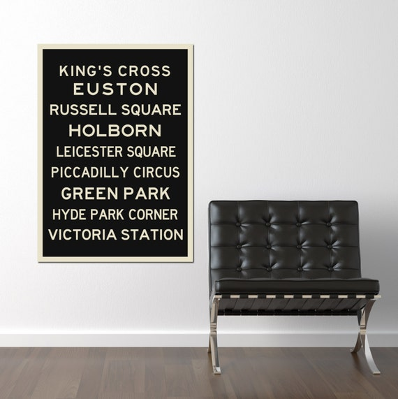 London Underground, Art, Typography Print, Poster, Travel, City Poster, Map, Industrial Sign, Canvas, Art Print, Home Decor, Retro Poster