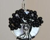 Black Tree of Life with Skull - Halloween