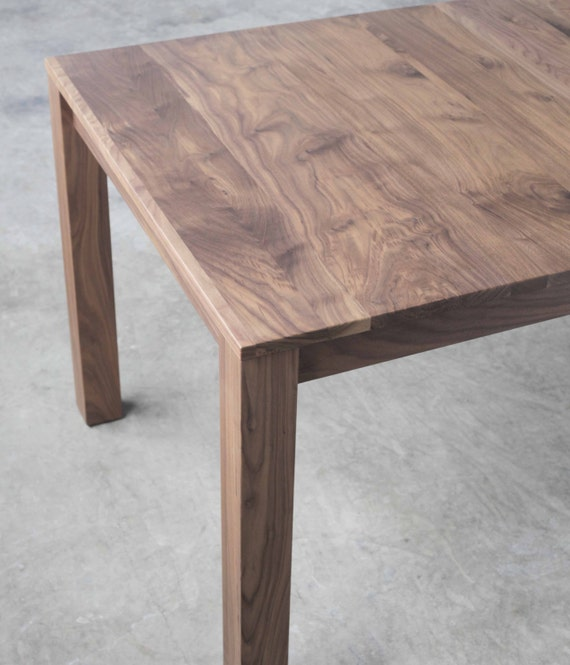 Parsons Dining Table   Solid Walnut Extension Table   Seats 10   Available  In Other Woods