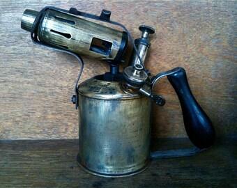 Vintage English Blow Torch Original Sievert circa 1910-20's / English Shop