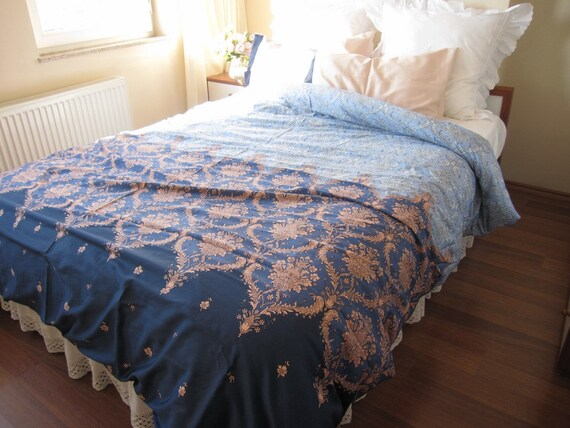 Expedited fast shipping Dorm room Bedding Pink Blue Navy ~ 170956_Etsy Dorm Room Ideas
