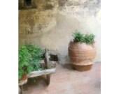 Tuscany Winery Courtyard, Chianti Region, Italy,   12 TH. Century Italian Castle, Soft Rustic Romantic Beauty