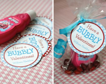 DIY, Personalized Valentine Tag, Have a BUBBLY Valentines