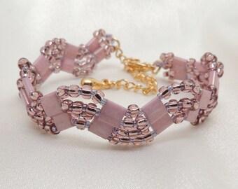 Pink Tila Wave Bracelet