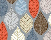 Autumn Leaves Grey, limited edition giclee print