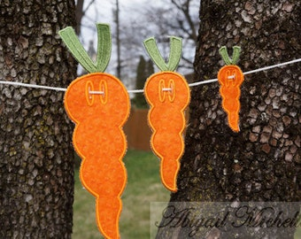 Carrot Banner Add On - 3 Sizes, Machine Embroidery