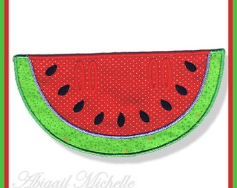 Watermelon Banner Add On - 3 Sizes, Machine Embroidery