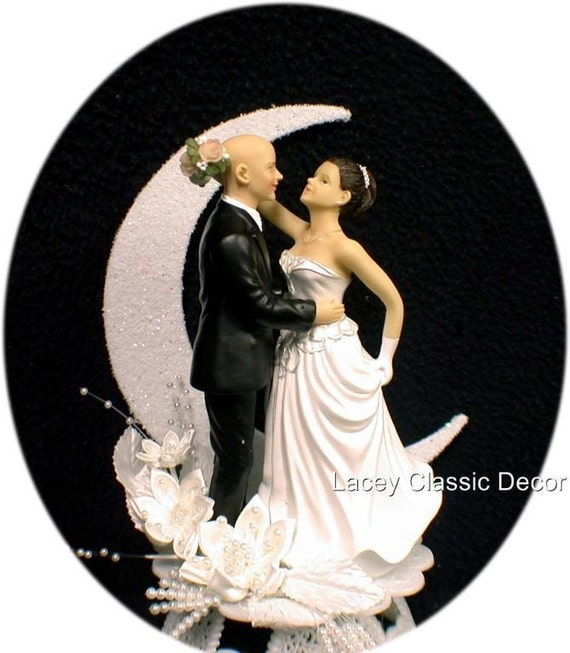 wedding cake toppers blonde bride bald groom unavailable listing on etsy 26401