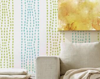 Sonic Border Wall Stencil Decor and Furniture Stencil Accents