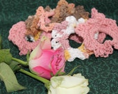 USA grown cotton scrunchies in shades of Desert Rose (set of three)